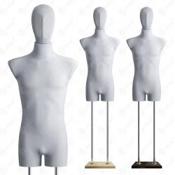 Manekin wystawowy bieliźniany męski z głową 48-50 SZARY B-1