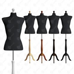 Manekin wystawowy damski krótki 36-38 CZARNY S-4
