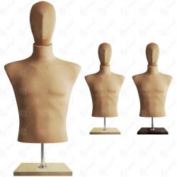 Manekin wystawowy męski krótki z głową 48-50 BEŻ BC-2