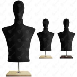 Manekin wystawowy męski krótki z głową 48-50 CZARNY BC-2