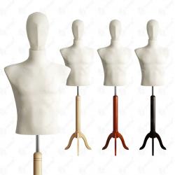Manekin wystawowy męski krótki z głową 48-50 ECRU S-1