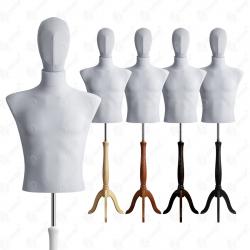 Manekin wystawowy męski krótki z głową 48-50 SZARY S-4