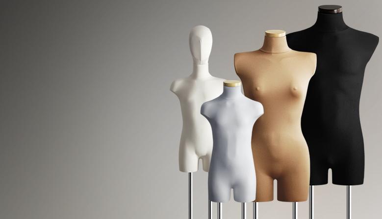 Manekiny wystawowe - damskie, męskie i dziecięce