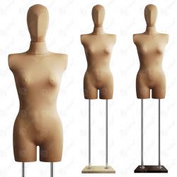 Manekin wystawowy bieliźniany damski z głową 36-38 BEŻ B-1