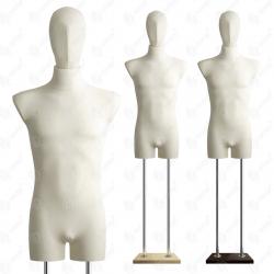Manekin wystawowy bieliźniany męski z głową 48-50 ECRU B-1