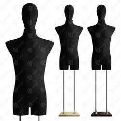 Manekin wystawowy męski z głową 48-50 CZARNY B-1