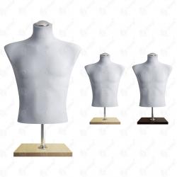 Manekin wystawowy męski krótki 48-50 SZARY BC-2