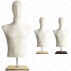 Manekin wystawowy męski krótki z głową 48-50 ECRU BC-2
