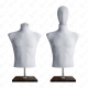 Manekin wystawowy męski krótki z głową 48-50 SZARY BC-2