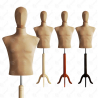 Manekin wystawowy męski krótki z głową 48-50 BEŻ S-1
