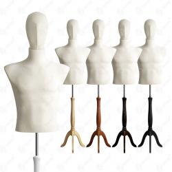 Manekin wystawowy męski krótki z głową 48-50 ECRU S-4
