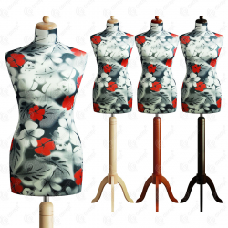 Manekin krawiecki damski dekoracyjny 34 S-1 (K010)